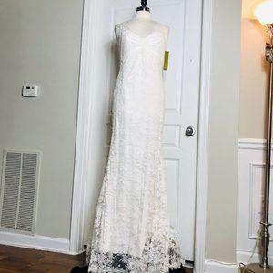 Nicole Miller Chantilly Lace Wedding Dress Size 12